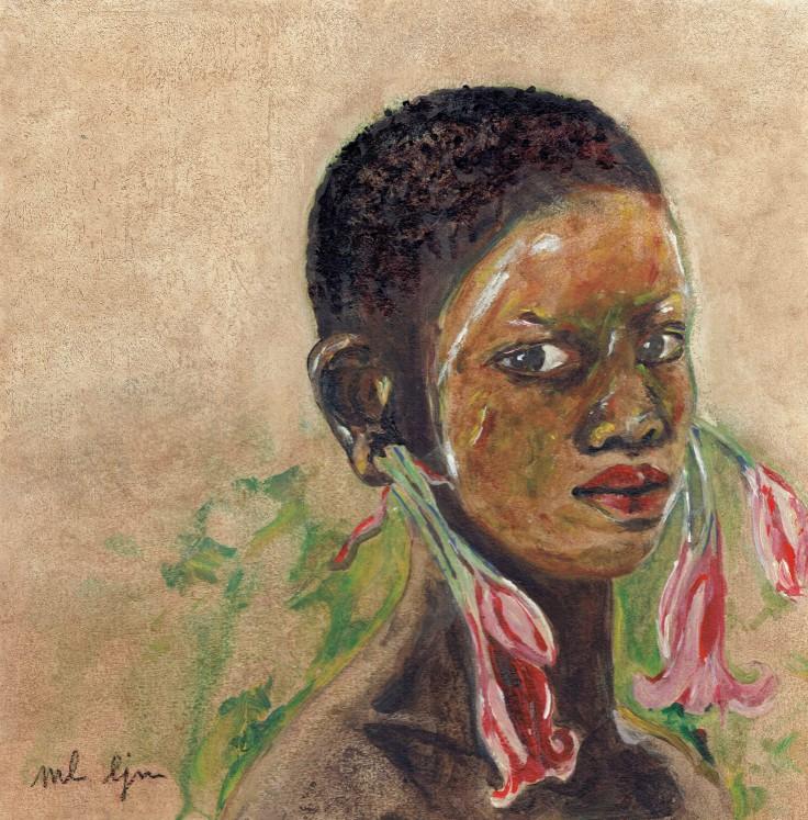 jeune femme aux flleurs 4 - Copie